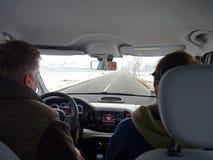 Сонный водитель автомобиля Стоковая Фотография RF