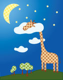 Сонный жираф Стоковые Изображения RF