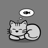 Сонный кот бесплатная иллюстрация