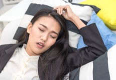 Сон бизнес-леди Стоковая Фотография