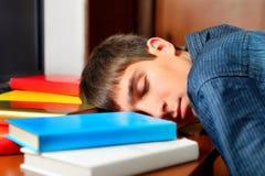 Сон подростка с книги Стоковые Изображения RF