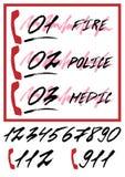 Сообщать плакат с вызывающими параметрами аварийного вызова иллюстрация штока