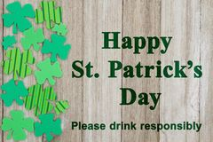 Сообщение безопасности дня ` s St. Patrick Стоковые Изображения