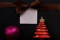Сообщение бирки рождества Стоковая Фотография