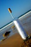 сообщение бутылки Стоковые Фото