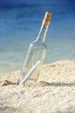 сообщение бутылки Стоковое Изображение RF