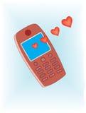 сообщение влюбленности мобильного телефона Стоковое фото RF