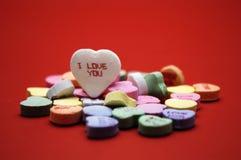 сообщение влюбленности сердца i вы Стоковое фото RF