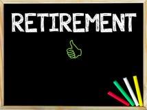 Сообщение выхода на пенсию и как знак Стоковое Изображение RF
