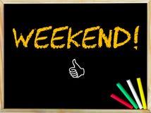 Сообщение выходных и как знак Стоковая Фотография RF