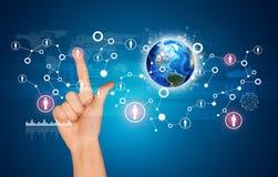 Сообщение в глобальных компьютерных сетях Стоковое Фото