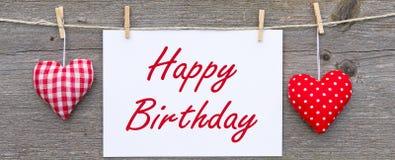 сообщение дня рождения счастливое стоковое изображение rf