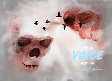 Сообщение жизни для гуманности: голос иллюстрация вектора