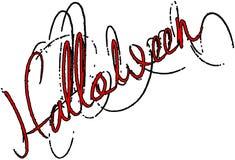 Сообщение знака текста хеллоуина стоковое изображение