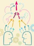 Сообщение и взаимодействие Стоковое Изображение