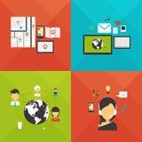 Сообщение, навигация, интернет, почта и поддержка Стоковое Фото
