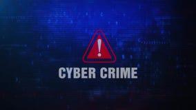 Сообщение об ошибках сигнала тревоги преступления кибер предупреждая моргая на экране бесплатная иллюстрация