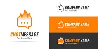 Сообщение логотипа горячее Стоковые Изображения