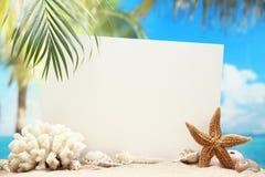 Сообщение от пляжа Стоковое Фото