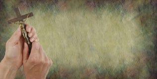 Сообщение от предпосылки пергамента Христоса Стоковая Фотография