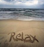 сообщение пляжа Стоковые Фото