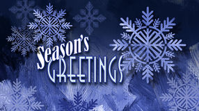 Сообщение праздника приветствиям ` s сезона рождества с orna снежинки Стоковые Фото