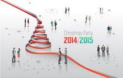 Сообщение рождественской вечеринки с графиками Стоковое Изображение