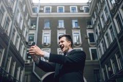сообщение самомоднейшее Selfie улицы для социальных средств массовой информации Стоковое фото RF
