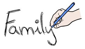 Сообщение семьи Стоковая Фотография