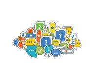 Сообщение, современные информационные технологии и середины, обзоры, комментируют Стоковые Фото