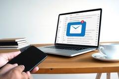 Сообщение соединения связи почты к пересылать контактирует телефон Стоковые Фотографии RF