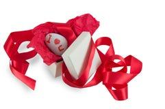 Сообщение сюрприза в коробке Стоковое Фото