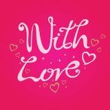 Сообщение с влюбленностью на красной предпосылке Стоковое Изображение RF
