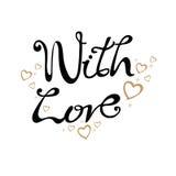 Сообщение с влюбленностью Стоковое Изображение RF