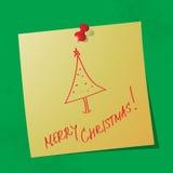 Сообщение с Рождеством Христовым рукописное стоковая фотография rf