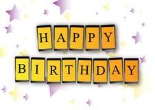 Сообщение черни дня рождения Стоковая Фотография RF