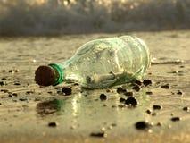 сообщение 2 бутылок Стоковое Фото
