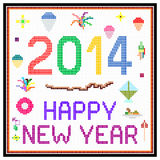 Сообщение LCD Нового Года 2014 ретро Стоковые Фотографии RF