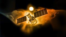 сообщения выравнивая спутниковое небо иллюстрация штока