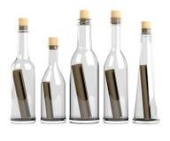 Сообщения в бутылках иллюстрация вектора