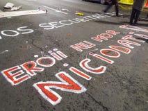 Сообщения граффити на улице Стоковые Изображения RF