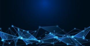 Сообщения или технология, предпосылка науки иллюстрация вектора