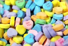 Сообщения конфеты сердца Стоковые Изображения
