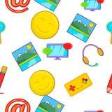 Сообщения над картиной интернета, стилем шаржа бесплатная иллюстрация