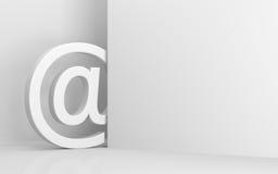 сообщения почты интернета e посылая символ знака Стоковая Фотография RF