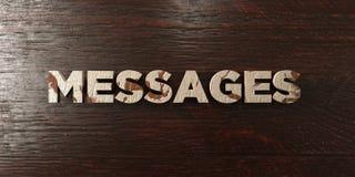 Сообщения - grungy деревянный заголовок на клене - представленное 3D изображение неизрасходованного запаса королевской власти иллюстрация штока