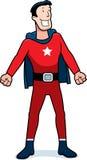 Сообщник супергероя шаржа Стоковое фото RF