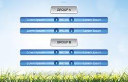 Соответствуйте предпосылке план-графика для чашки футбола футбола с полем зеленой травы иллюстрация вектора