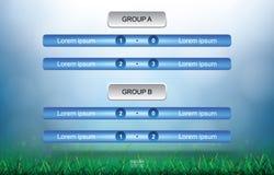 Соответствуйте предпосылке план-графика для чашки футбола футбола с предпосылкой поля зеленой травы бесплатная иллюстрация
