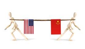 Соперничество Китая и США Стоковые Фото